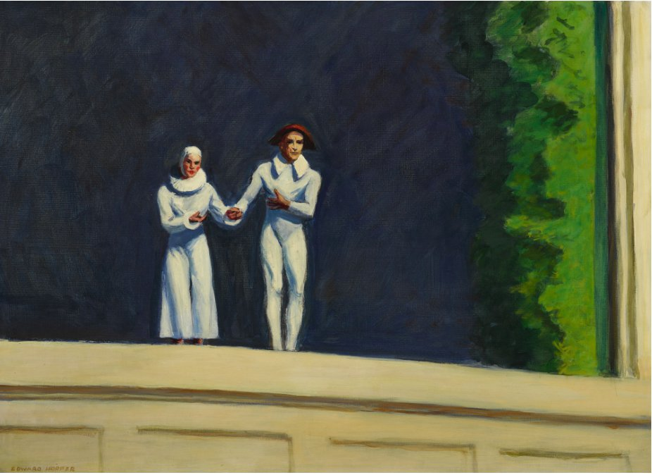 EDWARD HOPPER_Two Comedians_ upcoming Sotheby's American sale Nov 2018_from Sinatra collection est 12 mil to 18 mil