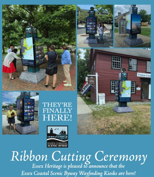 Essex Coastal Scenic Byway Essex National Heritage new kiosks 2018