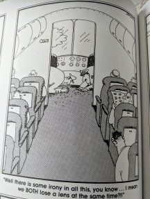 GARY LARSON Far Side_pilot plane motif