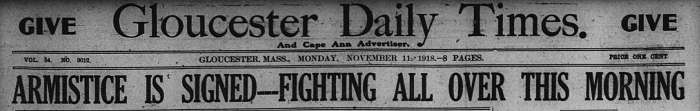 Headline GDT Nov 11 1918