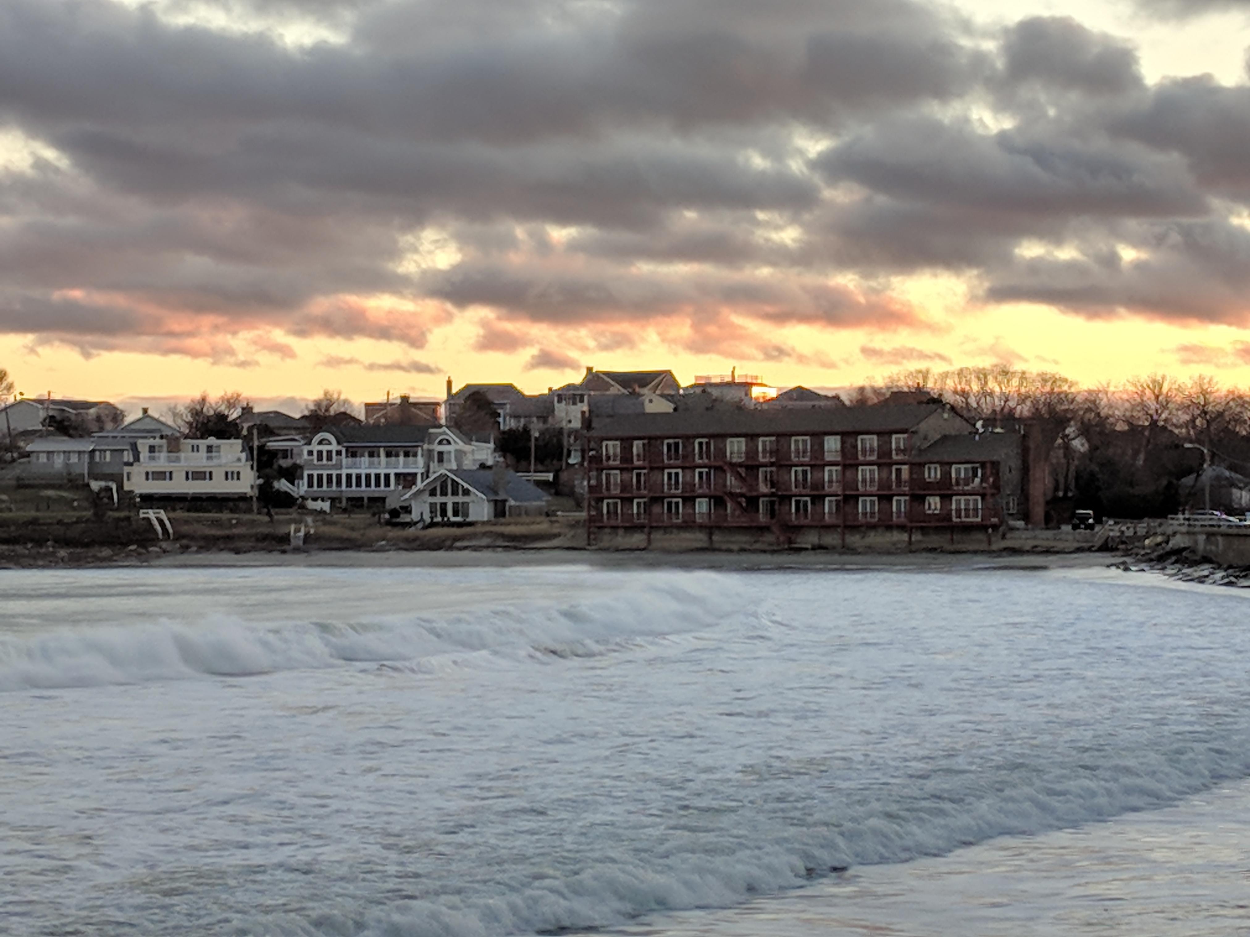 November sunset waves like turner seascapes long beach for Blue sea motor inn