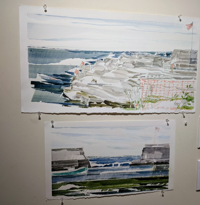 JILL DEMERI watercolors_After 10 years of exhibitions Flatrocks Gallery final group show titled Wrap it Up 2 closes Dec 16th_©catherine ryan Nov. 25 2018 (1)
