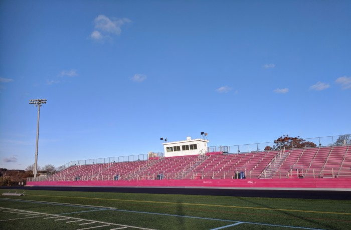 New Balance Newell Stadium snazzy stands back track repair still to come_20181114_Gloucester High School_Ma© c ryan