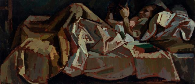 ORESMAN COLLECTION AT DOYLES_Herbert Philip Barnett reading in bed 1941