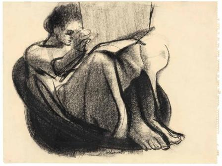 ORESMAN COLLECTION AT DOYLES_john wilson woman reading
