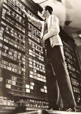 ORESMAN COLLECTION AT DOYLES_margaret bourke white Board room ny stock market vintage gelatin print 1936 8 x 6 est 300-500