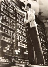 ORESMAN COLLECTION AT DOYLES_margaret bourke white Board room ny stock market vintage gelatin print 1936 8 x 6 est 300-500