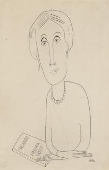 ORESMAN COLLECTION AT DOYLES_virginia woolf portrait 1929