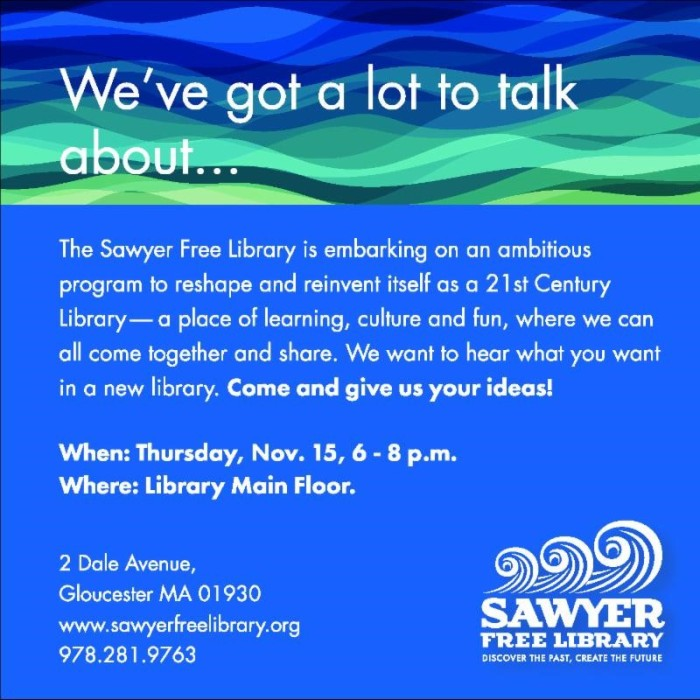 Sawyer Free meeting notice November 2018
