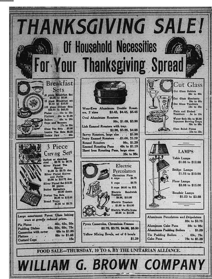 Thanksgiving Sale GDT Nov 16 1932