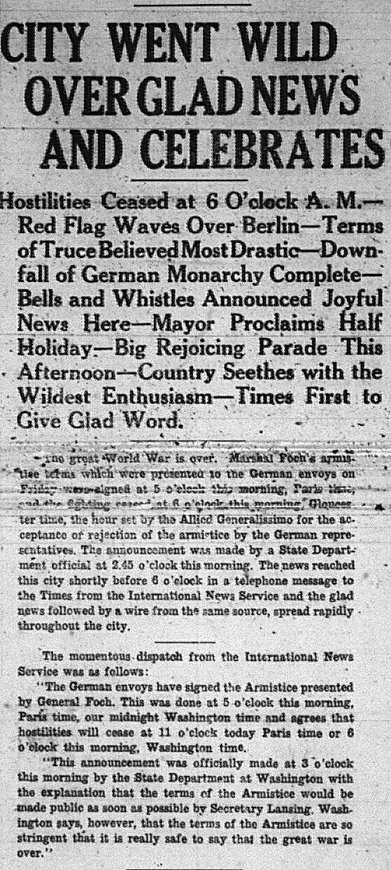 War Over GDT Nov 11 1918