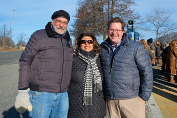 Essex Coastal Scenic Byway Ribbon Cutting Gloucester Mayor Sefatia Michael DeCoste Peter Souza copyright Kim Smith