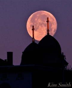 Full Cold Moon, Snow Moon, December Moon Our Lady of Good Voyage Gloucester Massachusetts -17 copyright Kim Smith
