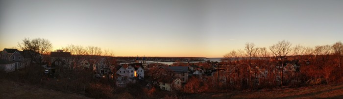 Gloucester Harbor winter panorama_20181223_7 20 AM_ © c ryan