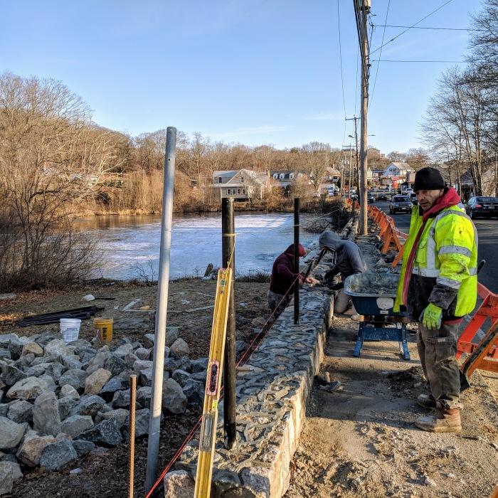 Gloucester MA DPW Days Pond stone work Dec 2018 (3)