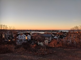 Up on the rooftops_Gloucester MA_ Our Lady of Good Voyage vista to Gloucester Harbor_20181223_ © c ryan