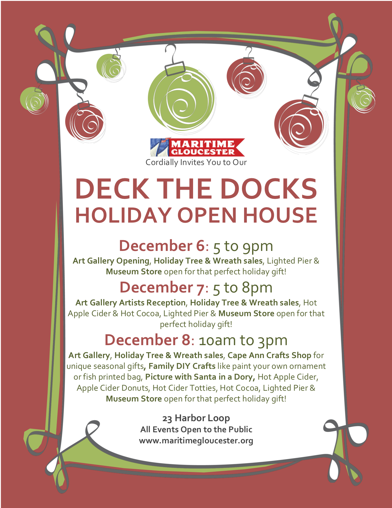 Deck The Docks Flier - Red bg