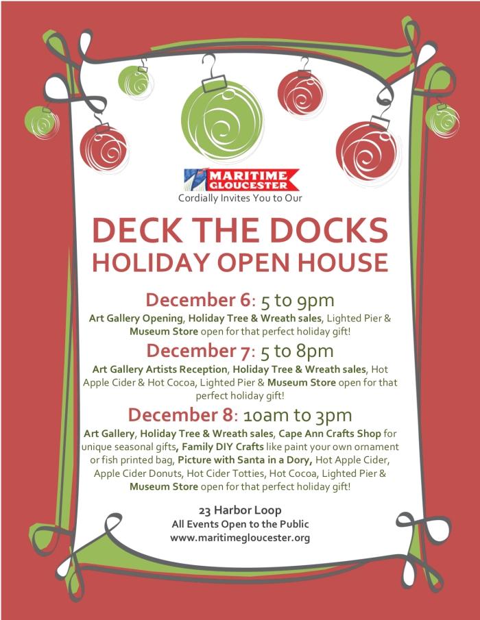 Deck The Docks Flier - Red bg