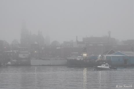 Gloucester Harbor Fog Fv Dunlin Gloucester Massachusetts copyright Kim Smith