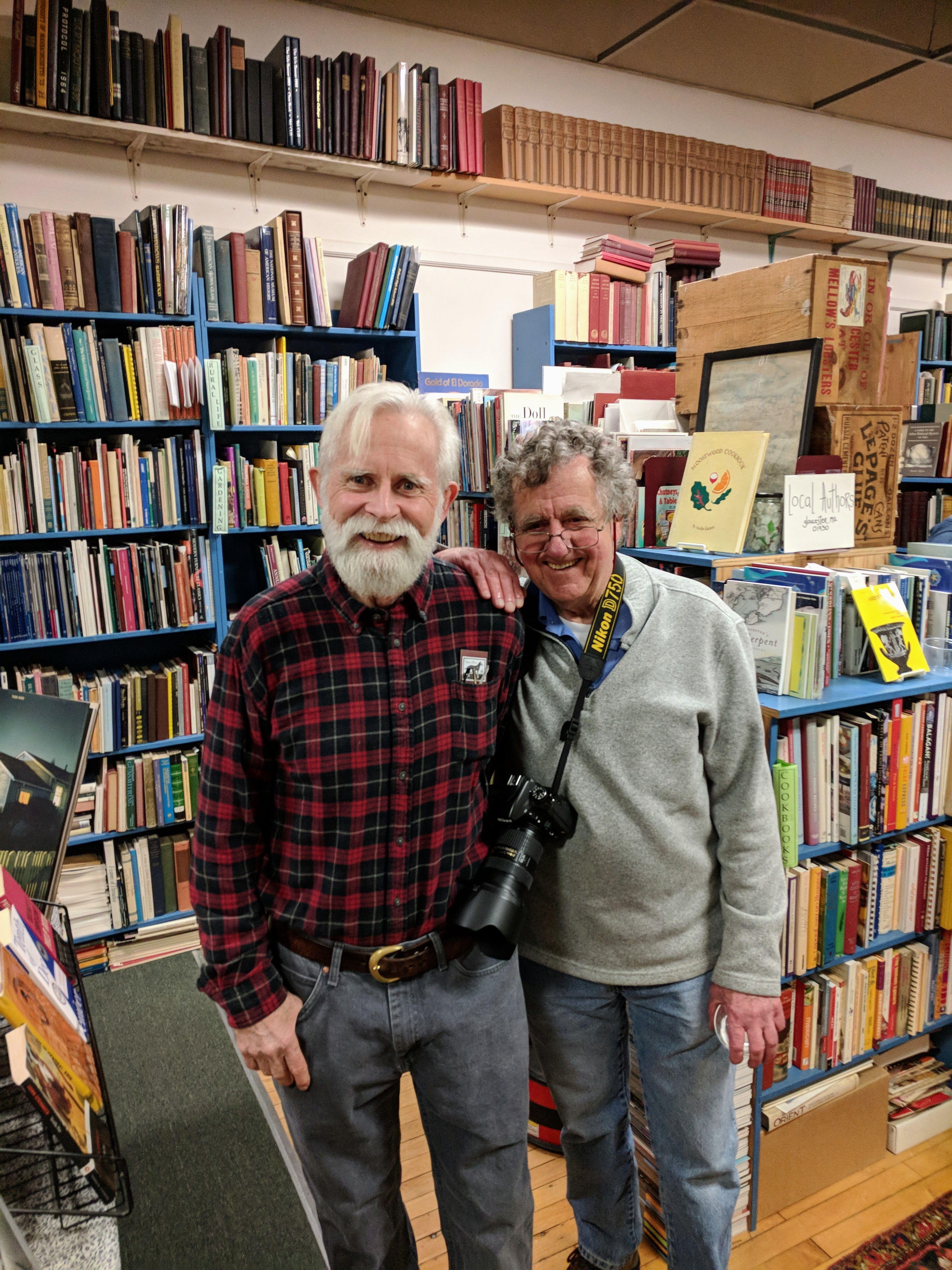 Portrait of Bob Ritchie and David Cox at Dogtown Books December 1 2018 ©c ryan