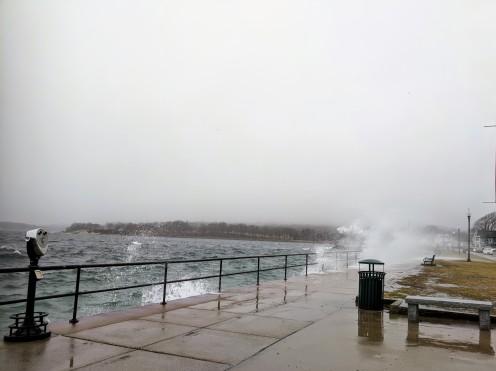 riding out Dec 21 storm_Stacy Boulevard promenade near Man at the Wheel memorial_Gloucester Harbor_Gloucester MA_©c ryan (3)