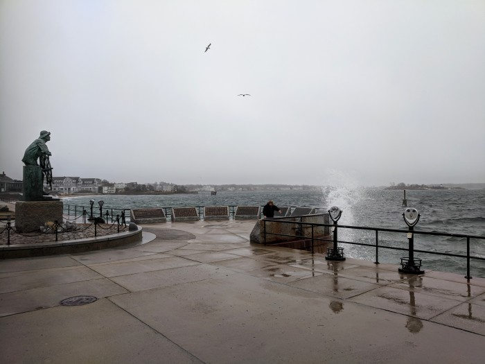 riding out Dec 21 storm_Stacy Boulevard promenade near Man at the Wheel memorial_Gloucester Harbor_Gloucester MA_©c ryan (5)