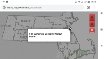 1140am mema power outage count at 541 january 20 2019
