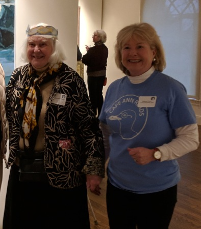betty wiberg with deborah french_cape ann museum reception for_ once upon a contest selections from cape ann reads_ january 5 2019 gloucester ma (3)