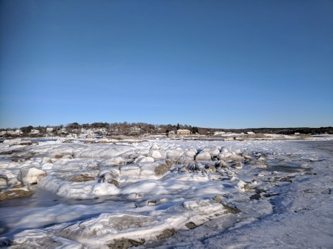 boulders coated and slippery_after the first winter storm_view from wingaersheek beach to annisquam _gloucester mass_20190122_© catherine ryan_145503