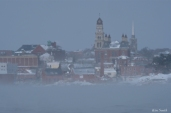 city hall sea smoke gloucester massachusetts winter storm 2019 copyright kim smith - 11