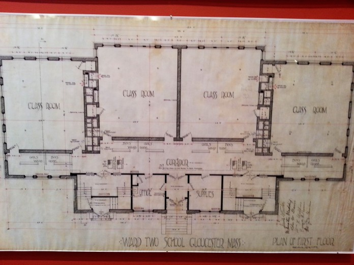 eastern avenue school_architectural plans_cape ann museum exhibition_june 4 2016_© catherine ryan (2)