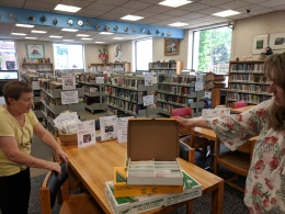 justine and linda_childrens services_sawyer free library_gloucester ma_ rocks_20180615_© catherine ryan