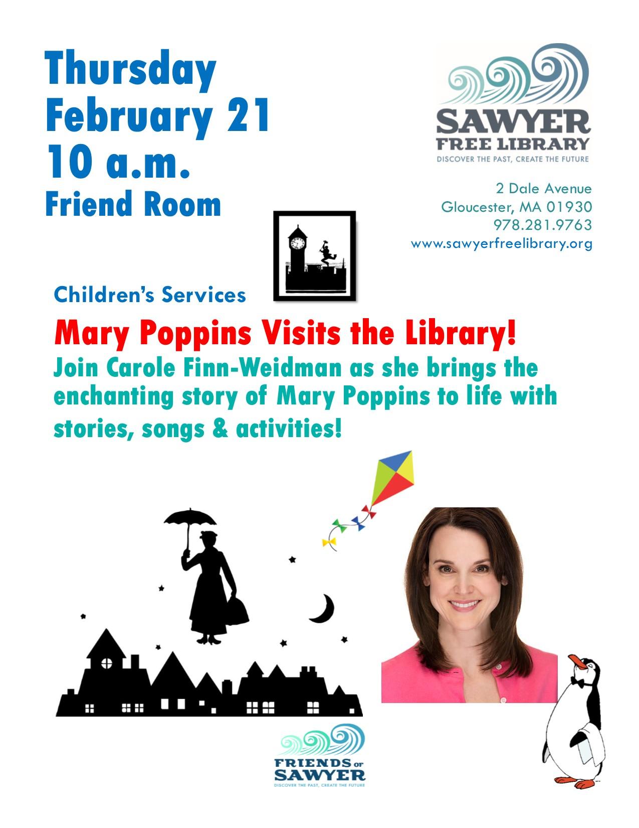 mary poppins courtesy sawyer free childrens programs