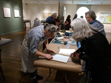 mary rhinelander and julia garrison printmaking tribute demo of folly cove designers_january 12 2019 cape ann museum_gloucester ma © catherine ryan