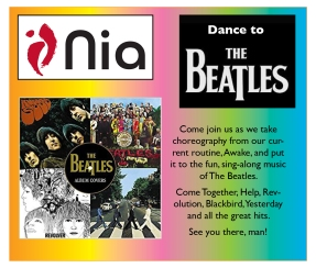 nia flyer shout out graphic beatles