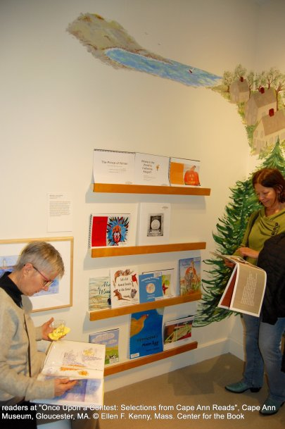once upon a contest selection from cape ann reads_exhibition at cape ann museum_jan 5 2019_ all photos © ellen f kenny _mass center for the book (12)