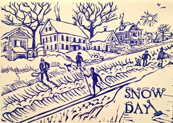 rhinelander - snow day