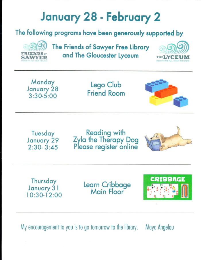 sawyer free library events 126-22