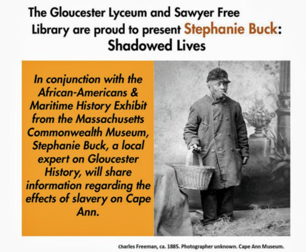 stephanie buck talk at gloucester lyceum and sawyer free public library january 2019 gloucester ma