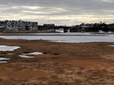 view across the marsh from rt 128 _ new condos same height as old tower_annisquam river bridge20181109_© catherine ryan