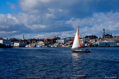 winter sail gloucester harobr copyright kim smith - 2