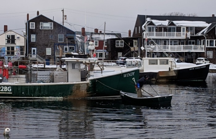 and then the dory_Winter Rockport Massachusetts Harbor just before morning high tide after big full moon_20190221_© cryan (1)
