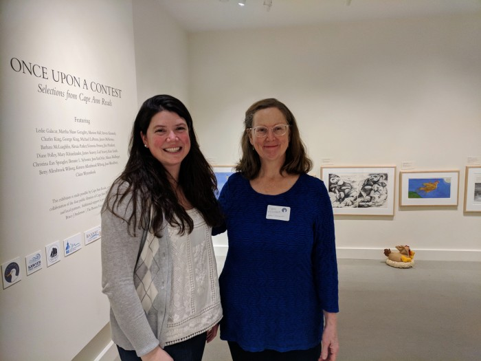 Courtney Richardson with Claire Wyzenbeek  Cape Ann Museum Once Upon a Contest Selection from Cape Ann REads © catherine ryan.jpg