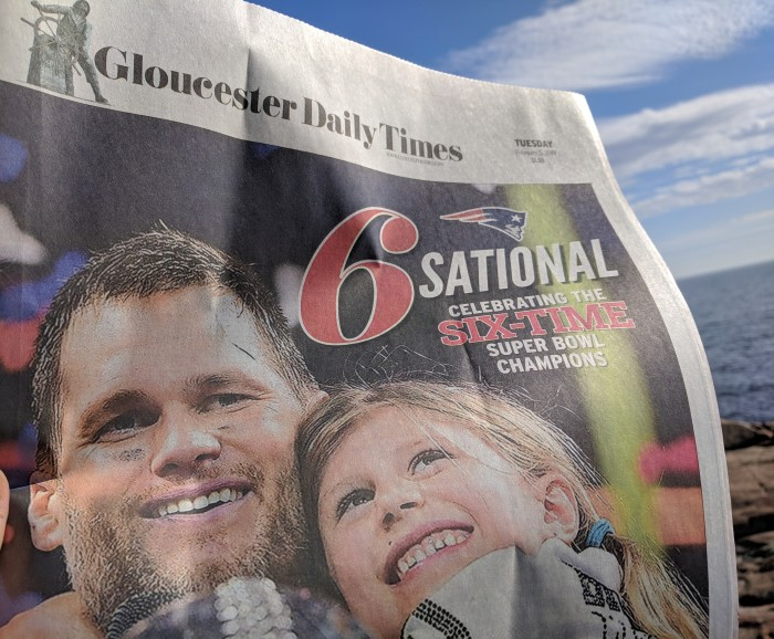 detail from paul biodeau super front page photo_Tom Brady-Gloucester Daily Times 2019020 © catherine ryan.jpg