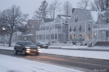 Gloucester Snowy Night Harborview Inn copyright Kim Smith