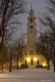 Gloucester Snowy Night UU Church -2 copyright Kim Smith