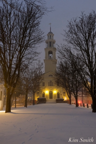 Gloucester Snowy Night UU Church copyright Kim Smith