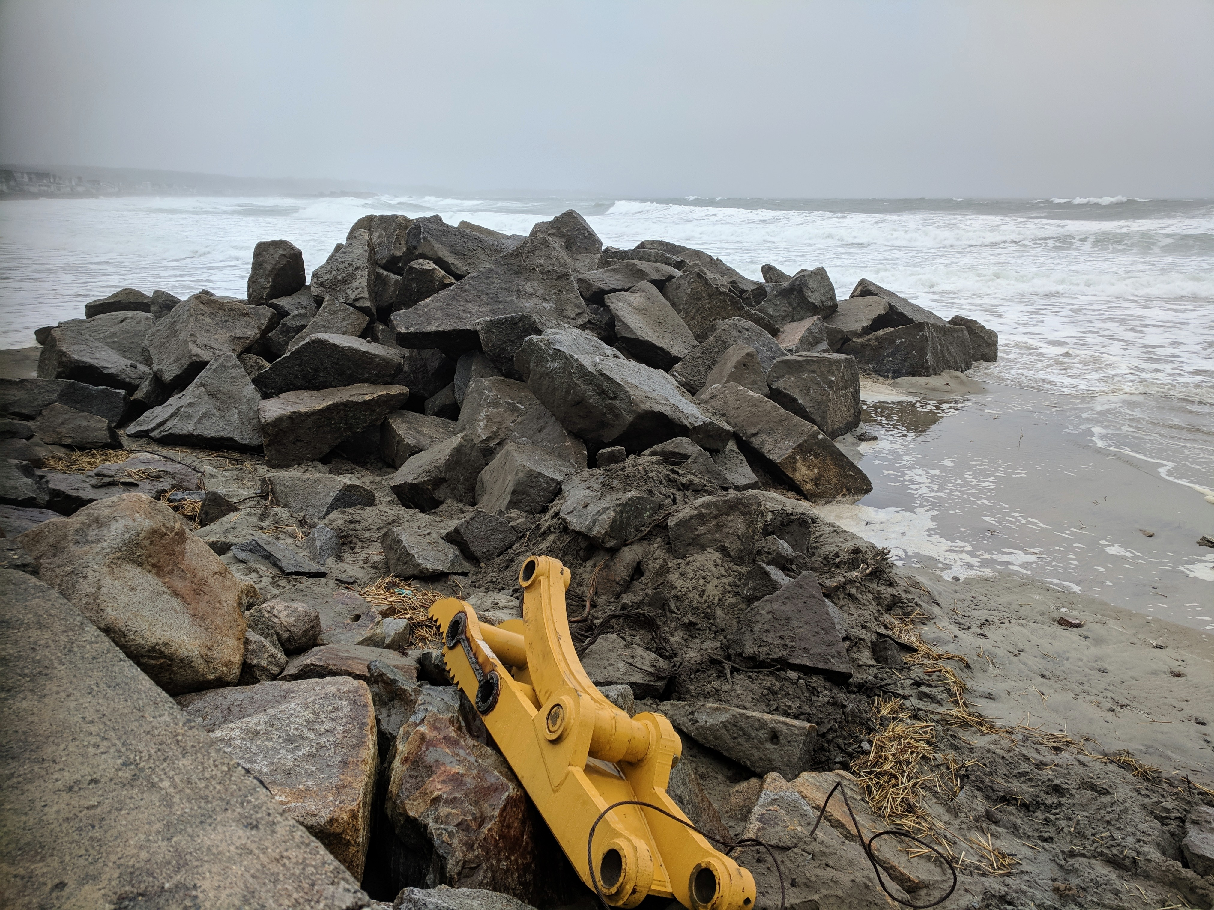 heavy equipment pulled off_ heavy surf high tide_winter surf_20190224_Long Beach Gloucester Rockport Mass © catherine ryan (4).jpg