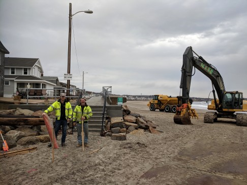 Kevin and Gary_K&R_Long Beach walkway winter 2019 repairs on beach side_prep for heavy equipment for rip rap_20190208_Gloucester Rockport Mass© Catherine Ryan (3)