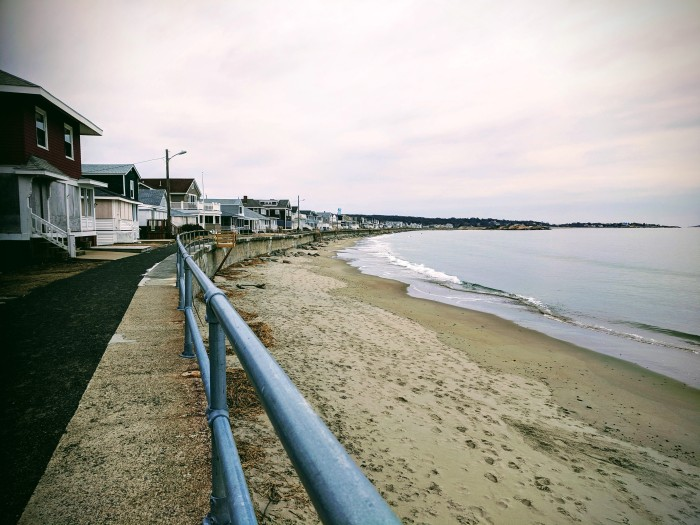 Long Beach view from Gloucester Mass side_BEFORE winter seawall repairs_more beach for staging this side of beach_20190203_© catherine ryan